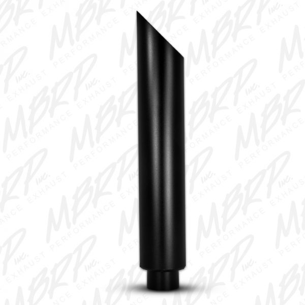 """MBRP SMOKERS CHROME STAINLESS STEEL STACK 4""""IN/5""""OUT ANGLE CUT 36"""" LENGTH"""
