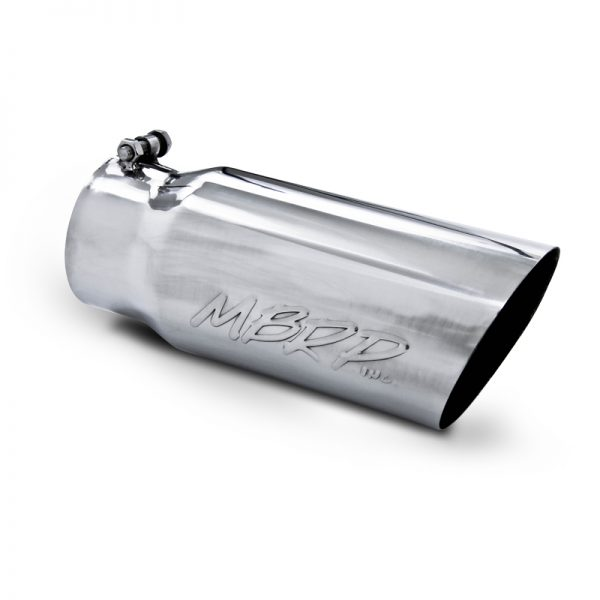 "MBRP SMOKERS CHROME STAINLESS STEEL STACK|4""IN/5""OUT ANGLE CUT 36"" LENGTH"