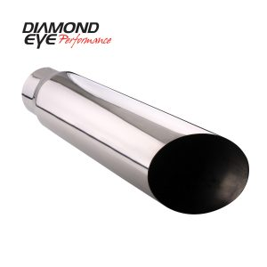 "DIAMOND EYE POLISHED 4""INLET/5""OUTLET/18""LENGTH SLANT EXHAUST TIP 