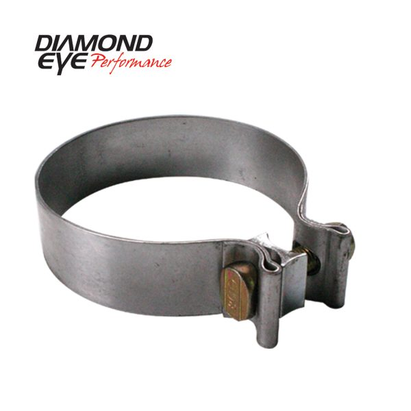 "DIAMOND EYE STAINLESS STEEL 4"" ACCU-SEAL BAND CLAMP (1"" WIDTH)