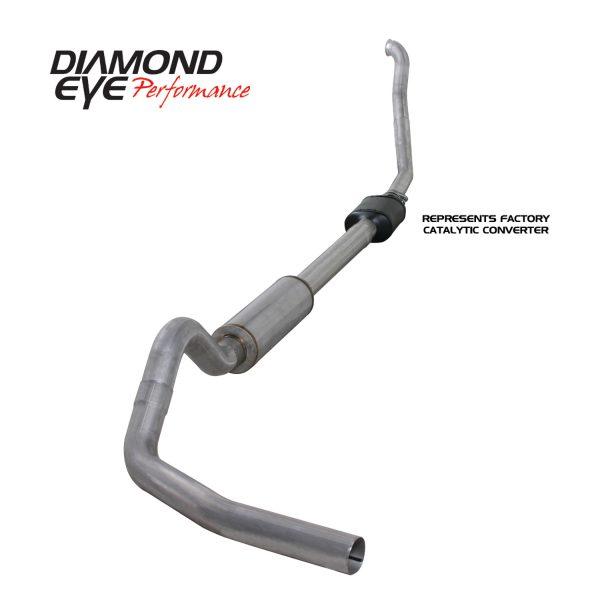 "DIAMOND EYE ALUMINIZED 4"" TURBO BACK SINGLE EXHAUST|1994-1997 FORD 7.3L POWERSTROKE"