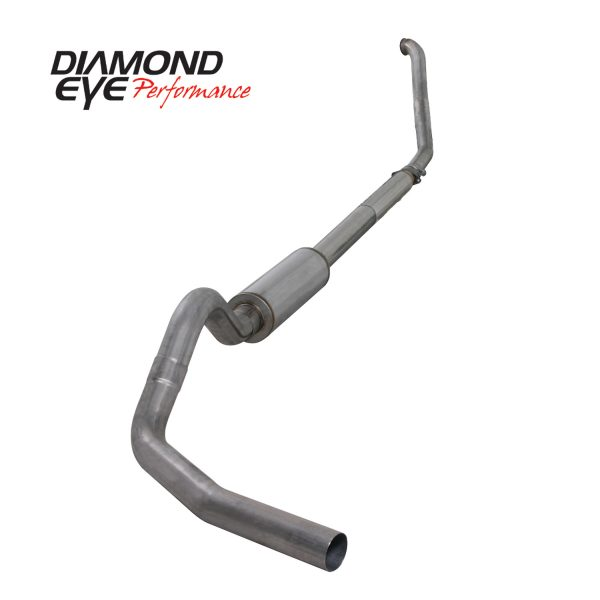 """DIAMOND EYE STAINLESS 4"""" TURBO BACK OFF ROAD EXHAUST 1994-1997 FORD 7.3L POWERSTROKE"""