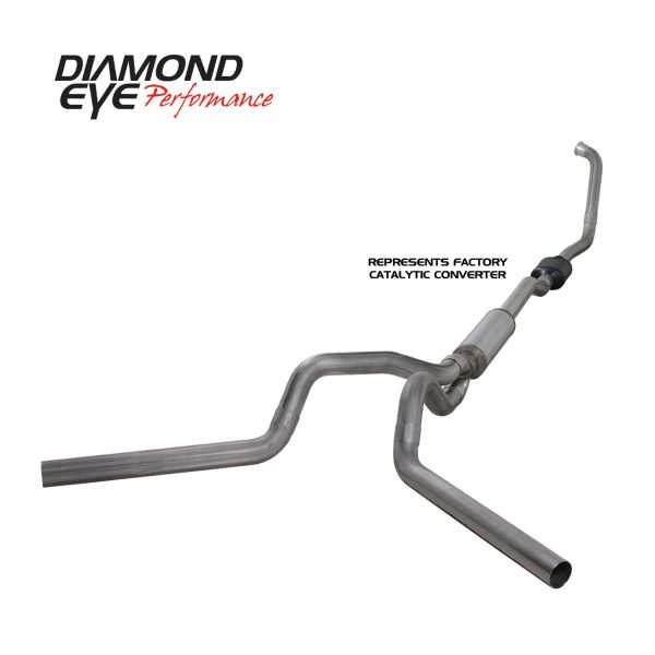 "DIAMOND EYE STAINLESS 4"" TURBO BACK DUAL EXHAUST