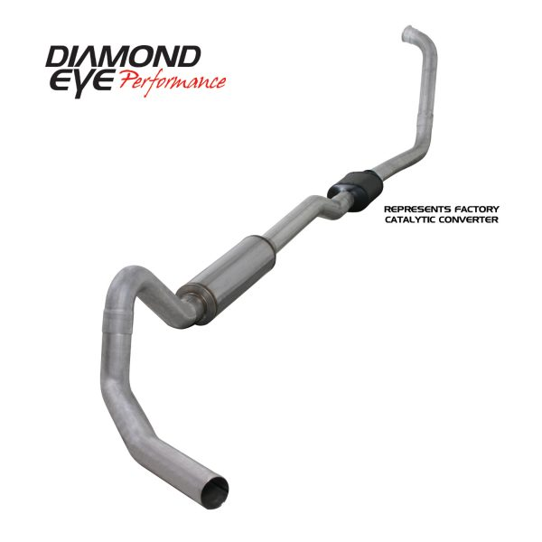 "DIAMOND EYE ALUMINIZED 4"" TURBO BACK SINGLE EXHAUST