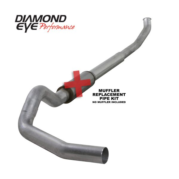 "DIAMOND EYE ALUMINIZED 5"" TURBO BACK SINGLE EXHAUST NO MUFFLER