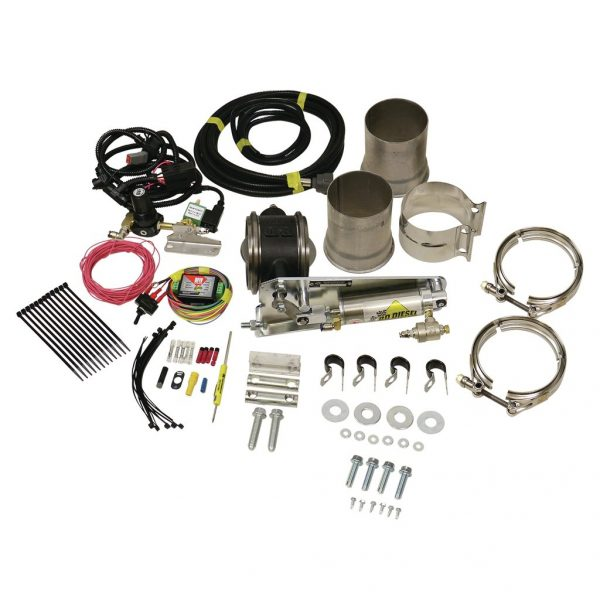 """BD-POWER 4"""" REMOTE MOUNT EXHAUST BRAKE UNIVERSAL - FOR 4"""" EXHAUST SYSTEMS 1"""
