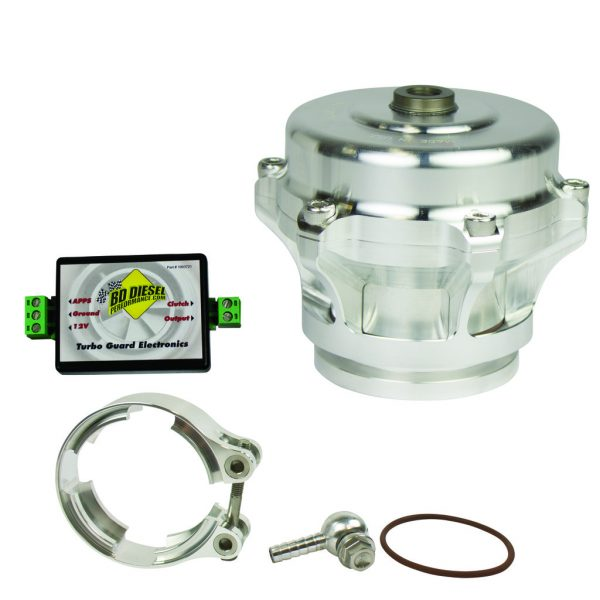 BD-POWER TURBOGUARD BLOW-OFF VALVE (SILVER VALVE-ALUMINUM ADAPTER) FORD 1998.5+ DODGE GM