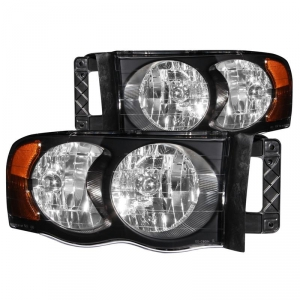 ANZO BLACK CRYSTAL HEADLIGHTS|2003-2005 DODGE RAM 2500/3500 1
