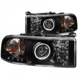 ANZO DODGE RAM PROJECTOR WITH HALO HEADLIGHT SET (BLACK)|1994-2002 DODGE RAM 2500/3500* 1