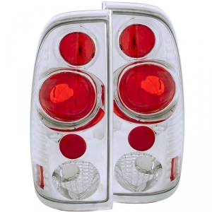 ANZO FORD SUPER DUTY TAILLIGHTS (CHROME)|1999-2007 FORD SUPER DUTY 1