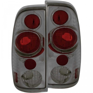 ANZO SMOKED TAILLIGHTS|1999-2007 FORD F-250/350 1