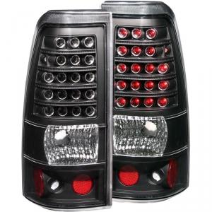 ANZO BLACK LED TAILLIGHTS|2003-2007 CHEVY SILVERADO 2500 1