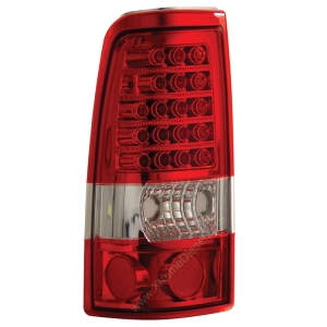 ANZO RED LED TAILLIGHTS|2001-2007 GMC SIERRA 2500|2001-2002 CHEVY SILVERADO 2500 1