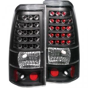 ANZO BLACK LED TAILLIGHTS|2001-2007 GMC SIERRA 2500 CLASSIC|2001-2002 CHEVY SILVERADO 2500 1