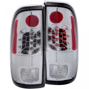 ANZO CHROME LED TAIL LIGHTS|1999-2007 FORD F-250/350 1