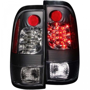 ANZO BLACK LED TAIL LIGHTS|1999-2007 FORD F-250/350 1
