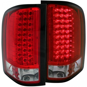 ANZO RED LED TAIL LIGHTS|2007.5-2014 CHEVY SILVERADO 1