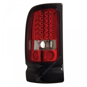 ANZO RED LED TAILLIGHTS|1994-2002 DODGE RAM 1
