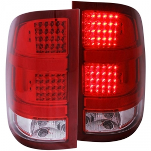 ANZO RED LED TAIL LIGHTS|2007.5-2014 GMC SIERRA 1