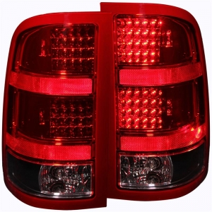 ANZO RED/BLACK LED TAIL LIGHTS|2007.5-2014 GMC SIERRA 1