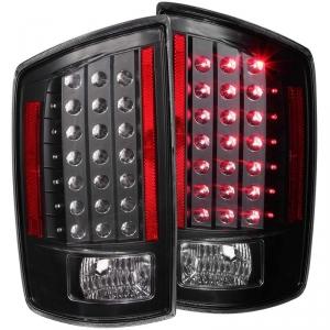 ANZO BLACK LED TAILLIGHTS|2007-2009 DODGE RAM 2500/3500 1