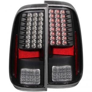 ANZO BLACK LED TAILLIGHTS|2008-2016 FORD SUPER DUTY 1