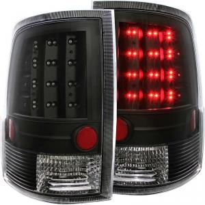 ANZO BLACK LED TAILLIGHTS 2010-2018 DODGE RAM (FITS NON-LED MODELS) 1
