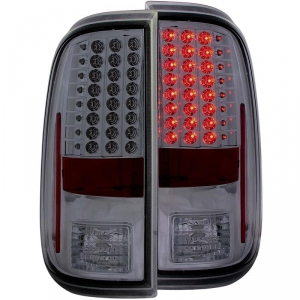 ANZO SMOKED LED TAILLIGHTS|2008-2016 FORD SUPER DUTY 1