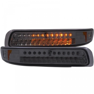 ANZO SMOKED LED PARKING LIGHTS|2001-2002 CHEVY SILVERADO 1