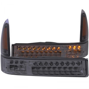 ANZO SMOKED LED PARKING LIGHTS|1999-2004 FORD SUPER DUTY 1