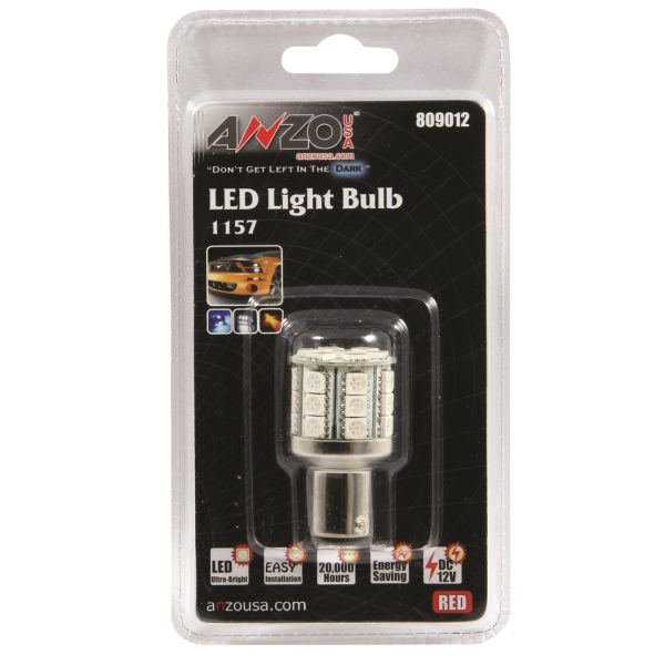 "ANZO 1 3/4"" L.E.D 1157 RED REPLACEMENT BULB