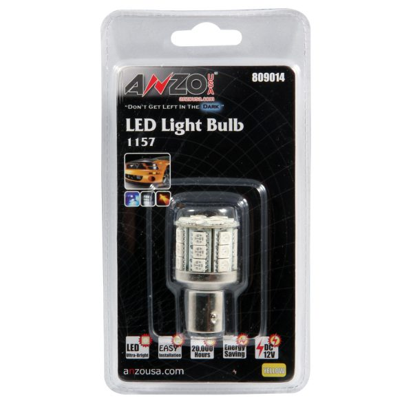 """ANZO 1 3/4"""" L.E.D 1157 AMBER REPLACEMENT BULB UNIVERSAL 1"""