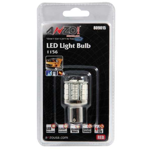 """ANZO 1 3/4"""" L.E.D 1156 RED REPLACEMENT BULB
