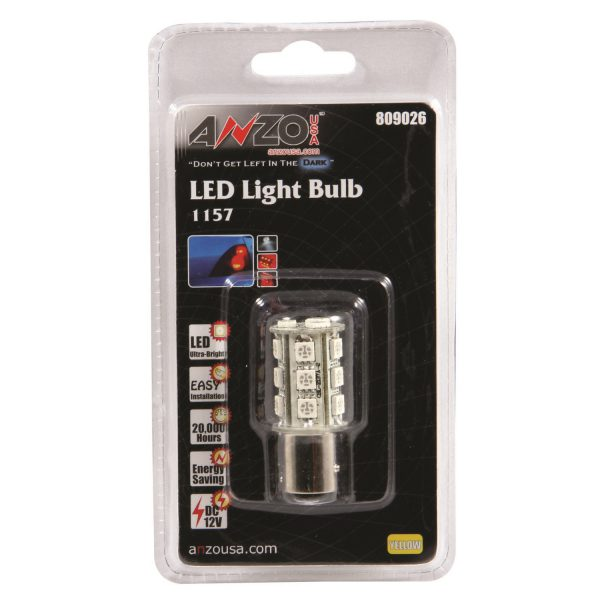 """ANZO 1 3/4"""" L.E.D 1157 AMBER REPLACEMENT BULB