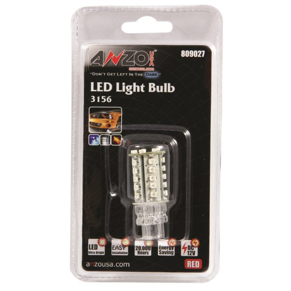 "ANZO 1 3/4"" L.E.D 3156 RED REPLACEMENT BULB