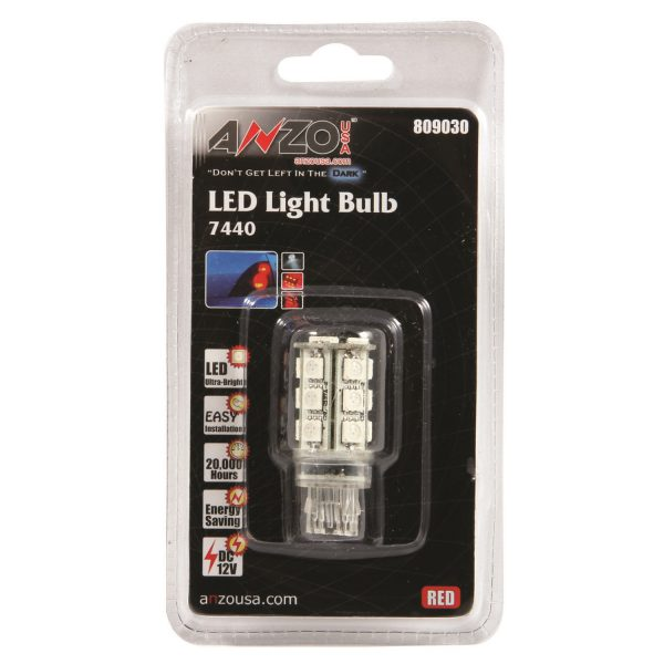ANZO L.E.D 7440 RED REPLACEMENT BULB|UNIVERSAL 1