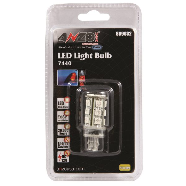 ANZO L.E.D 7440 AMBER REPLACEMENT BULB|UNIVERSAL 1