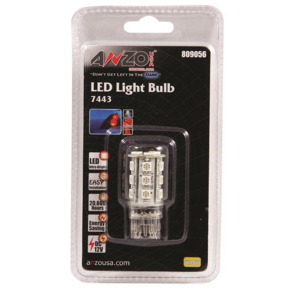 """ANZO 1 3/4"""" L.E.D 7443 AMBER REPLACEMENT BULB