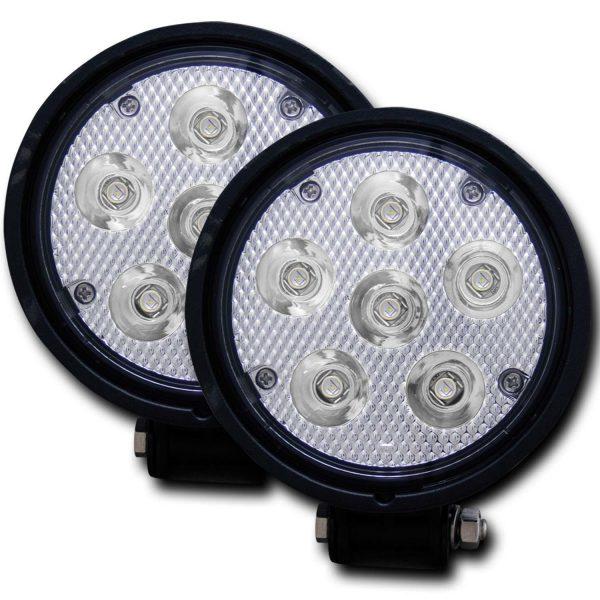 "ANZO STEALTH VISION HIGH POWER 4.5"" ROUND LED FOG LIGHT KIT (PAIR)|UNIVERSAL 1"
