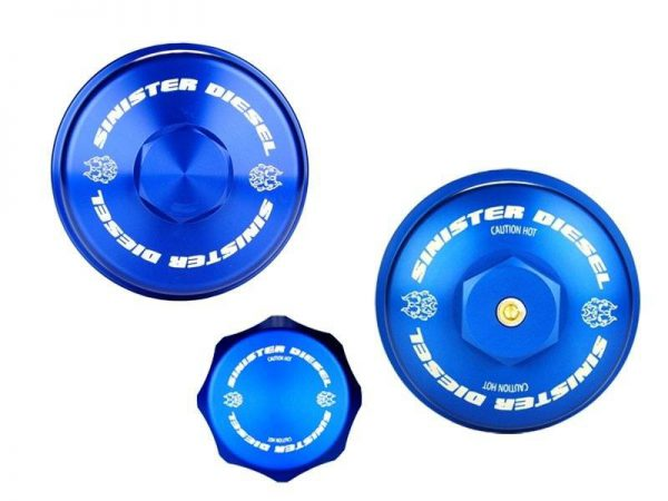 SINISTER DIESEL BILLET BLUE CAP KIT|2008-2010 FORD 6.4L POWERSTROKE 1