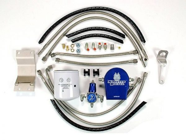 SINISTER DIESEL REGULATED FUEL RETURN KIT|1999-2003 FORD 7.3L POWERSTROKE (W/ INTEGRATED FUEL FILTER) 1
