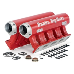 BANKS POWER BIG HOSS INTAKE MANIFOLD (RED POWDER-COATED)|2001-2015 GM 6.6L DURAMAX 1