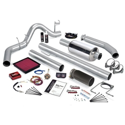 BANKS POWER STINGER POWER BUNDLE W/ SINGLE EXIT/BLACK TIP|1999-2000 DODGE 5.9L CUMMINS (EXT CAB) 1